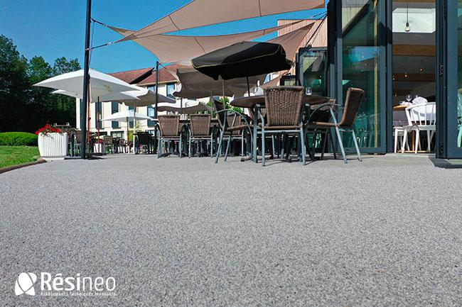 Resine Granulat Terrasse Restaurant