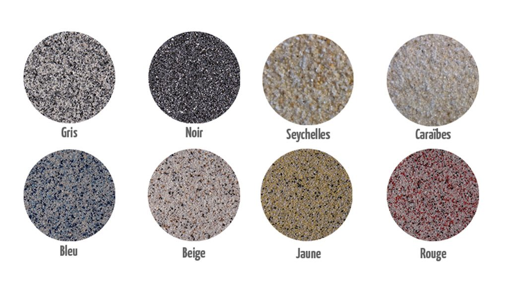 revêtement drainant gris / couleurs
