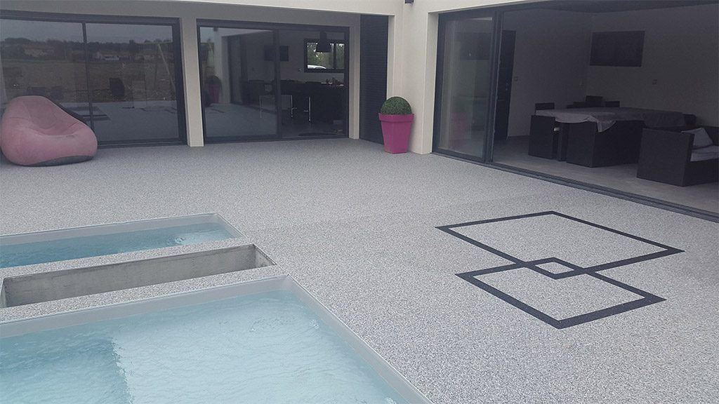 resin pool deck covering