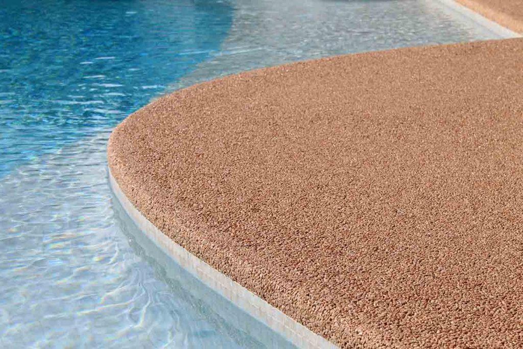 moquette de pierre avec des bord arrondies